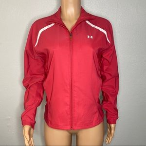 Under Armour Pink White Light Weight Jacket Size M